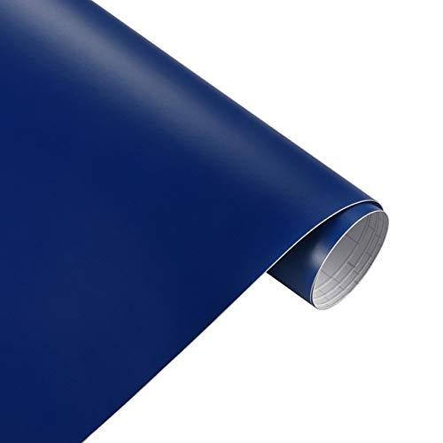 JiuRui DIY Verpackung Car Styling Zubehör Matt Farbe ändern Vinylfilm-Auto Wraps Hood Dach Whole Body Aufkleber Aufkleber mit Luft-Blase (Color Name : Deep Blue, Größe : 152cmX10m)