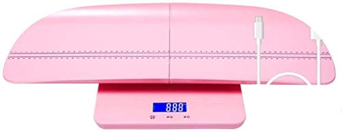 HEMFV High Precision Electronic Scale Digital Body Weight Bathroom Scale, Bathroom Scales for Body Home Bathroom Adult Weight Loss Body Fat Scale Intelligent Measuring Room Temperature,Colour:Pink