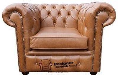 Designer Sofas4u Respaldo bajo Club sillón Chesterfield ...