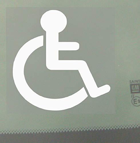 Rollstuhl-Fenster-Aufkleber für Auto, Kleinbus, Lkw; zur Kennzeichnung barrierefreier Fahrzeuge, Selbstklebendes Vinylschild
