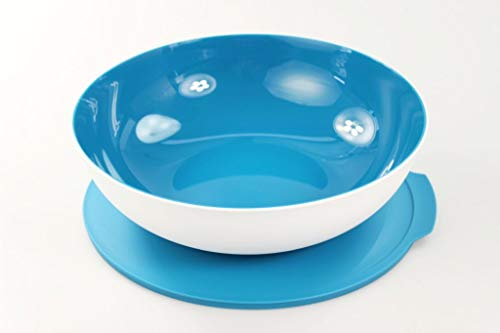 Tupperware Allegra 3,5 L hellblau weiß Servierschale 36349