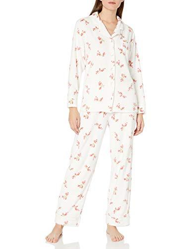 Carole Hochman Women's Pajama Set, Whtered, S