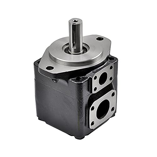 ZTBH High Pressure Oil Pump Hydraulic Pump T6c Vane Pumps, Keyed Shaft Outlet and Inlet Hydraulic Motor (Color : T6C0121R00B1)