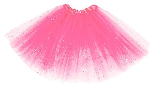 Das Kostümland Glitzer Petticoat 40 cm - Pink