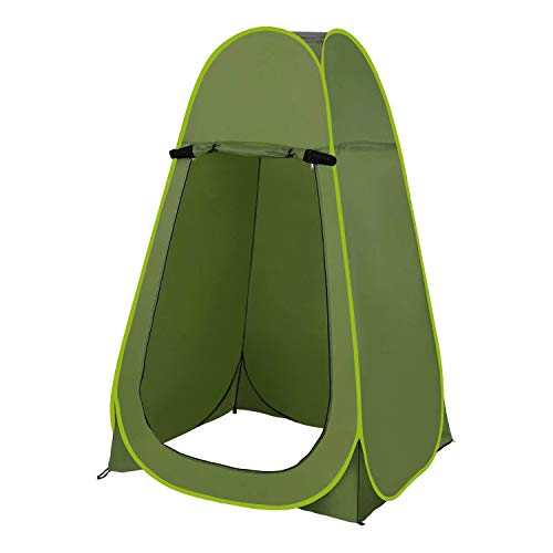 Denny International Portable Outdoor Instant Pop Up Tent For Privacy Camping Shower, Toilet & Changing Room (Green)