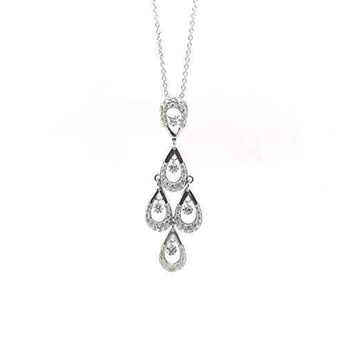 BRILLAXIS Collier diamants suspendus en or 18 carats