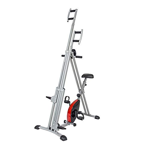 UIZSDIUZ 2-in-1 Vertical Climber Magnetic Exercise Bike Fitness Machine,Climbing Motions, Foldable Multifunctional Anti-Slip Design - Ideal for for Home Exercise Gym