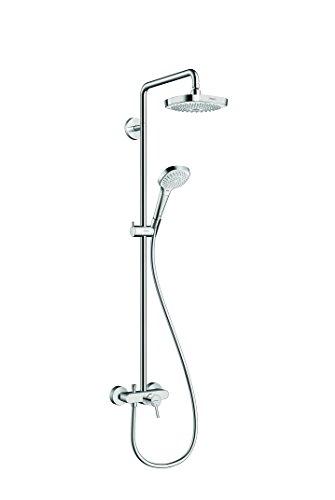 Hansgrohe 27258400 Croma Select E 180 columna de ducha, 4 tipos de chorro, blanco/cromo