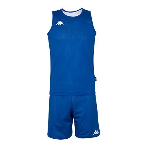 Kappa Cairosi Conjunto Baloncesto, Hombre, Azul, 14Y