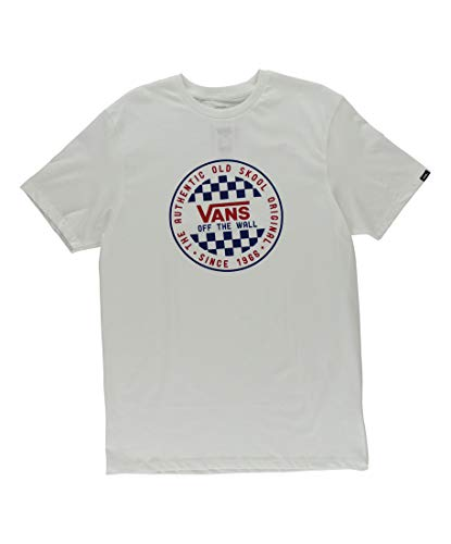 Vans OG Checker Tee Mens Knits & Tees Size S, Color: White/Blue/Red