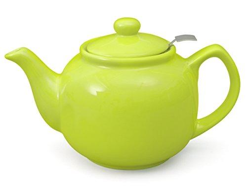 Aricola Teekanne Malika grün 1,2 Liter aus hitzebeständiger Keramik mit Siebeinsatz aus Edelstahl