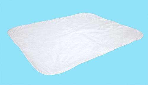 ObboMed MC-1120W absorberende waterdichte anti-slip incontinentie stoel bescherming beschermer, voor volwassenen, kinderen en baby's, wasbaar en herbruikbaar, wit, 70 x 90 cm