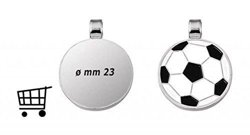 Ten ANHÄNGER RUND - Fussball - GRÖSSE 1 Euro cod.EL28123 cm 2,8x2,3x0,2h by Varotto & Co.