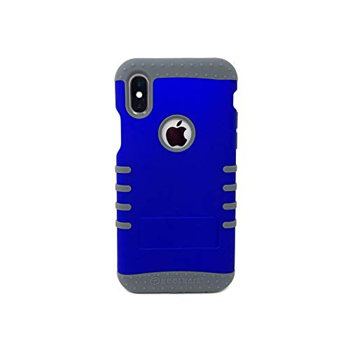 Rubberized Honey Blue Snap On Rocker Phone Case for iPhone Xs Max (Gray)