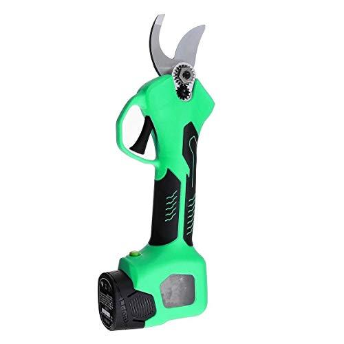 no-branded 500W 16,8V eléctrica Recargable poda Tijeras de poda Tijeras de jardín Pruner sécateur Poder de Corte Herramienta de Corte con 2 baterías ZHQHYQHHX (Color : Verde, Size : Gratis)