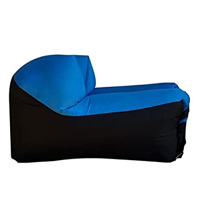 EasyGO Products Woohoo 2.0 Giant Inflatable Lounger Chair with Carry Bag, Blue Chair