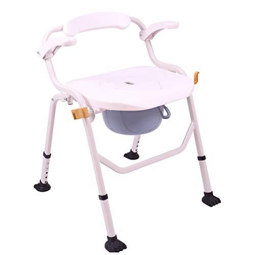 Toilettenstuhl,Toilettenstühle, Extra breit Höhenverstellbar Klappkommode Geeignet für ältere Menschen/Schwangere/Behinderte