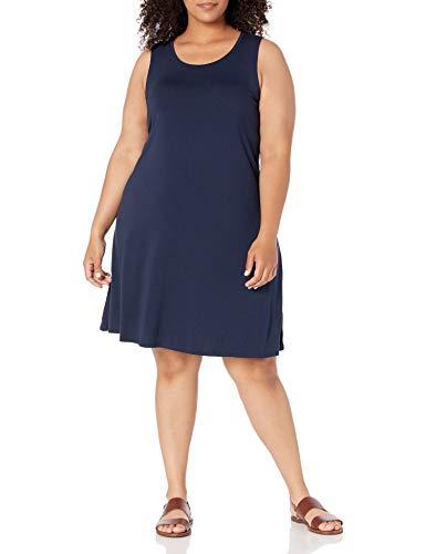 Amazon Essentials Plus Size Tank Swing Dress Kleid, Marineblau, XL Größen