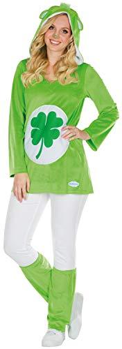 Rubie's Glücksbärchi Kostüm Kleeblatt Größe L Damen grün Karneval Bär