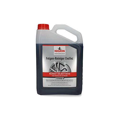 NIGRIN 72933 EvoTec Felgenreiniger, 3 Liter, selbstaktiver Reiniger für alle Felgen, säurefrei, mit Wirk-Indikator
