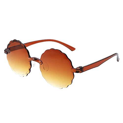 Xniral Sonnenbrille Frauen Herren Runden Multilateral Rahmenlos UV400 Sonnenbrille Mehrere Farben(G)