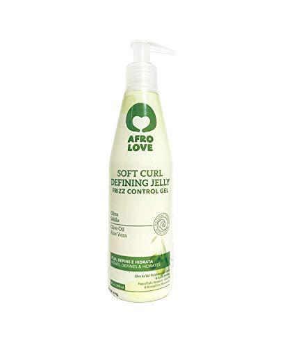 Afro Love Soft Curl Defining Lockengel – Frizz-Kontrolle, natürliches Haar Styling Gel ohne Alkohol, Parabene, Silikone mit Aloe Vera und Oliven Öl 290ml