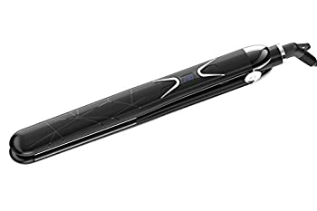 Amaxy Professional Straightener Flat Iron with 100% Titanium Floating Plate Advanced Ionic Technology  1  Inch - Get Smoother & Shinier Hair - No Heat Damage - 2 in 1 Straightener and Curler