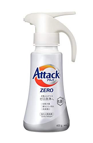 アタック ZERO(ゼロ) 洗濯洗剤 液体 ワンハンドプッシュ 本体 400g (衣類よみがえる「ゼロ洗浄」へ)の写真