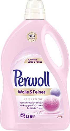 Perwoll Wolle & Feines Faserpflege Advanced Flüssig, 2er Pack (2 x 32 Waschladungen)