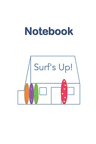 Jersey Channel Islands Surf's Up White House Notebook: Historic heritage iconic landmark in St Ouen's Bay, loved by the surfing community, part of ... boxes to organise and refer to notes easily.