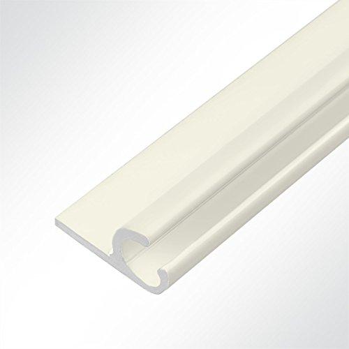 LYSEL® Kederschiene 15x30mm Elfenbein 3m 45° Elfenbein Ø10mm für Keder 6-9mm