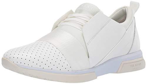 Ted Baker Women's CEPA Sneaker, White Leather, 6.5 M US