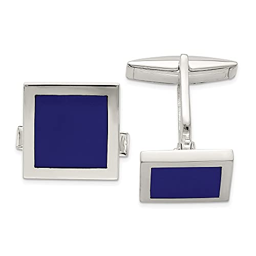 925 Sterling Silver Lapis Cuff Links Mens Cufflinks Link Collar Stay Fine Jewelry For Dad Mens Gifts For Him