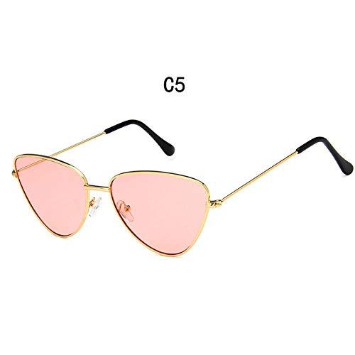FRGTHYJ Metalen Cateye zonnebril dames ontwerper van het merk Candy Color zonnebril Outdoor Street Beat zonnebril Feminino Okulary