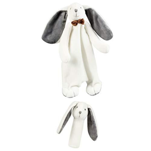 TOYANDONA Baby Sicherheitsdecke Niedlichen Tier Welpen Gesicht Sicherheitsdecke Plüsch Stofftier Kuscheltier Decke Schnuller Spielzeug