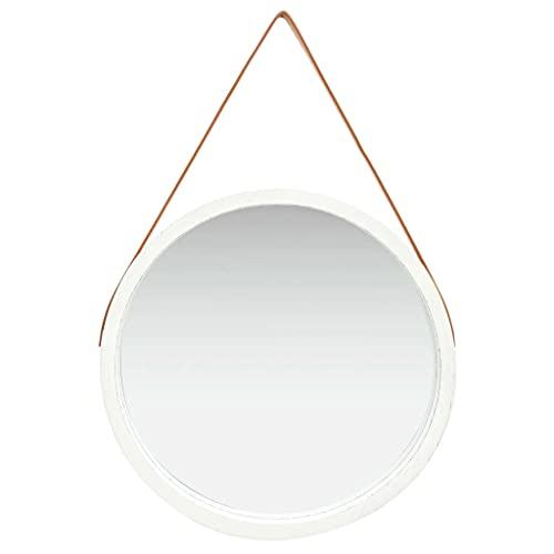 Espejos Decorativos de Pared Redondos Blanco Marca vidaXL