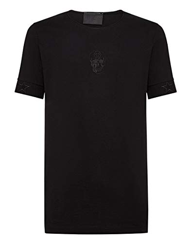Philipp Plein - Camiseta - Redondo - Manga Corta - para hombre Negro Negro ( XXL