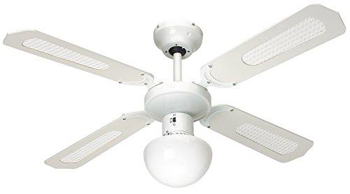 professionnel comparateur Ventilateur de Plafond Farelek Bali, 107 cm, Blanc choix