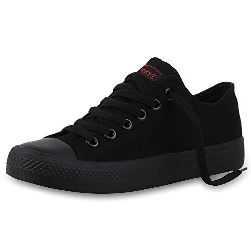 SCARPE VITA Damen Sneakers Sportschuhe Schnürer Schuhe 165762 Schwarz Black 38