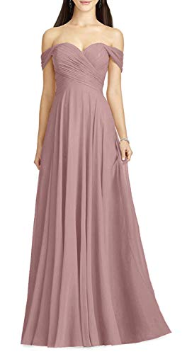 Aline Pink Off the Shoulder Wedding Dress