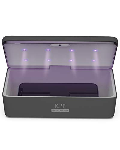 UV Light Sanitizer, Phone Sanitizer UV Box | UV Sterilizer Box for Smartphone | Clinically Proven Kills Germs Viruses & Bacteria UV-C Light Disinfector 2021 New Gift for Family Men