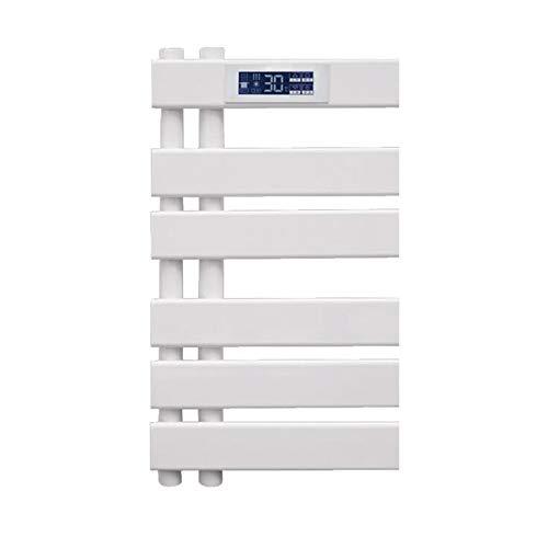Abodos Riel De Toallas con Calefacción, Panel Plano Toalla De Toalla De Baño Radiador Antracita Radiadora, 45 × 62 × 5,5 Cm,Blanco
