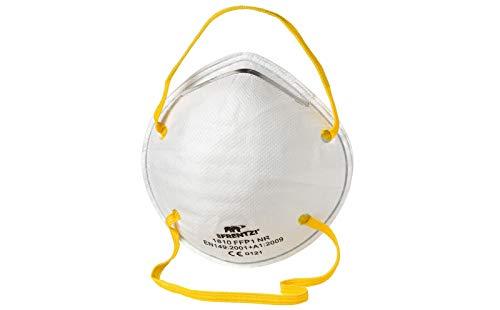 10 x Atemschutzmaske FFP1 | Atemmaske Feinstaubmaske | Mundschutz Geruchschutz | Schutzmaske Schmutzmaske | Staubschutzmaske Hygieneschutzmaske Staubmaske Virenschutzmaske Bakterienschutzmaske