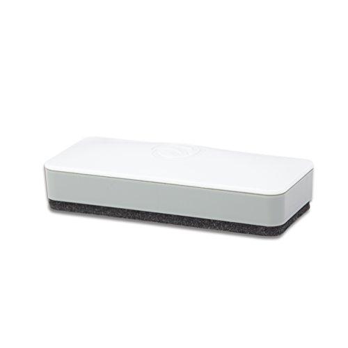 U Brands borrador de pizarrón seco, con lateral magnético, superficie inferior de fieltro grueso, 2 x 5 x 1 pulgadas, color blanco