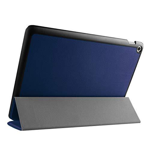 Funda Protectora para Tablet Textura de Custer Inversión Horizontal Funda de Cuero con Soporte Plegable 3 para ASUS ZenPad 10 / Z300 (Color : Dark Blue)