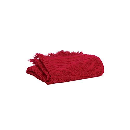 Vivaraise - Drap de Bain - Drap de Bain très Absorbant - Serviette de Bain - Drap de Bain 100% Coton - Drap de Bain Doux - 100 x 180 - Rouge - Zoe