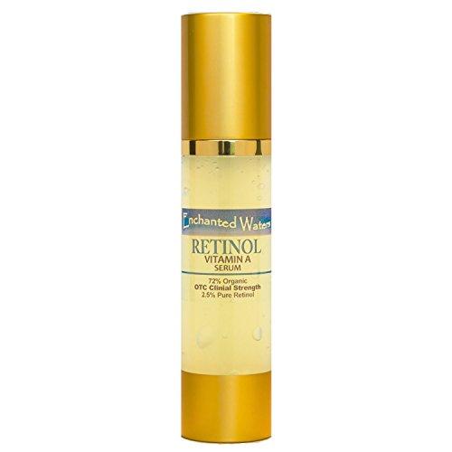 Pure Retinol Vitamin A 2.5% Serum Hyaluronic Acid for Anti Aging Wrinkle Acne Facial Face - Strongest OTC Clinical Strength - 72% Organic Skin Repair 2oz/60mL