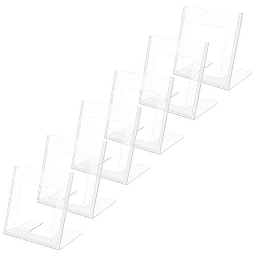 Kurtzy Expositor Metacrilato A6 Cartel de Plástico (Pack de 6) Soporte Metacrilato Inclinado en Vertical – Menú Restaurante de Sobremesa, Cartel Anuncio, Panfleto, Volante, Soporte Papel y Foto