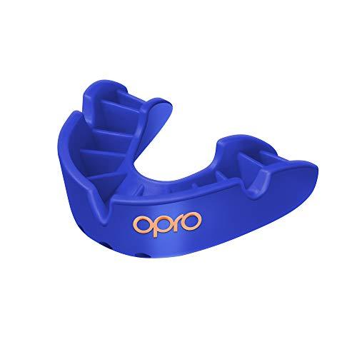 Opro Mundschutz Bronze - Zahnschutz für Rugby, Hockey, MMA, Boxen, und andere Kontaktsportarten (Blau, Junior)