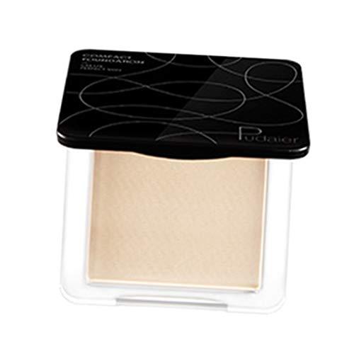 SM SunniMix Polvos Compactos de Maquillaje de Hidratante, Duradero, Impermeable y con Control de Aceite, Transpirable - 02